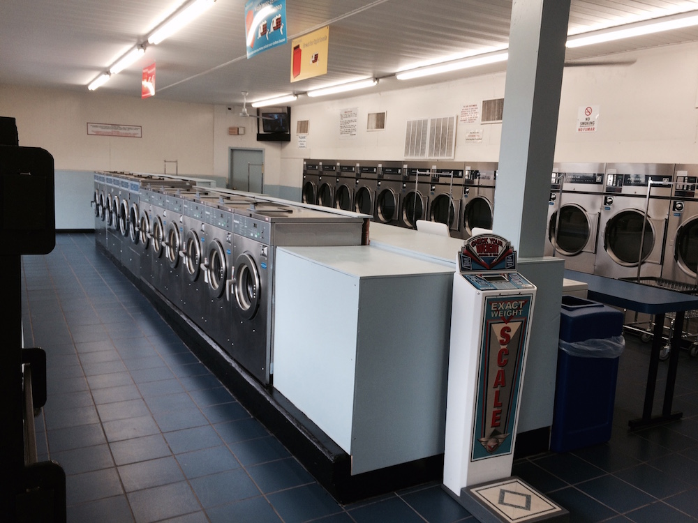 Store cleaned daily at Tanyard Coin Laundry