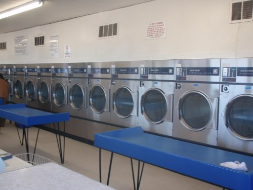 New, energy efficient dryers and plenty of folding tables