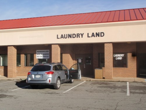 Lots of close parking at Chatham-Tightsqueeze Laundry Land