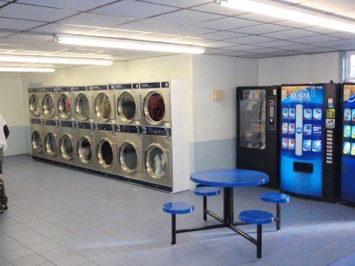 Plenty of dryers available, plus snack and drink vending