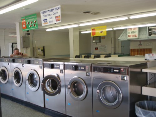 New, high efficiency washers - pay by credit card or with quarters