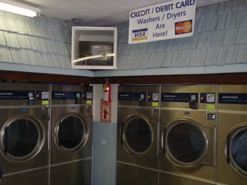 New, efficient dryers - pay by credit card or quarters