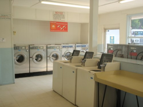 Front load washers and folding tables | Brookneal Laundry Land Laundromat