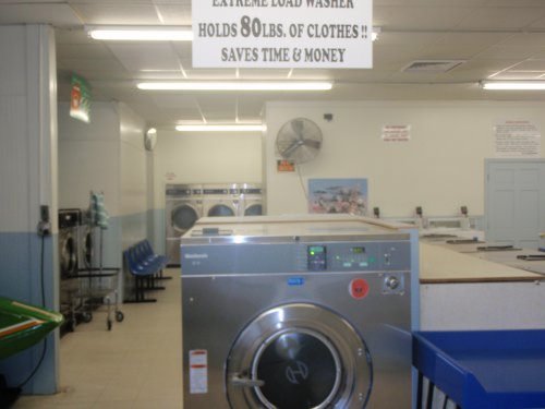 Large load, front loading washer - washes 80 lbs | Wards Rd Coin Laundromat