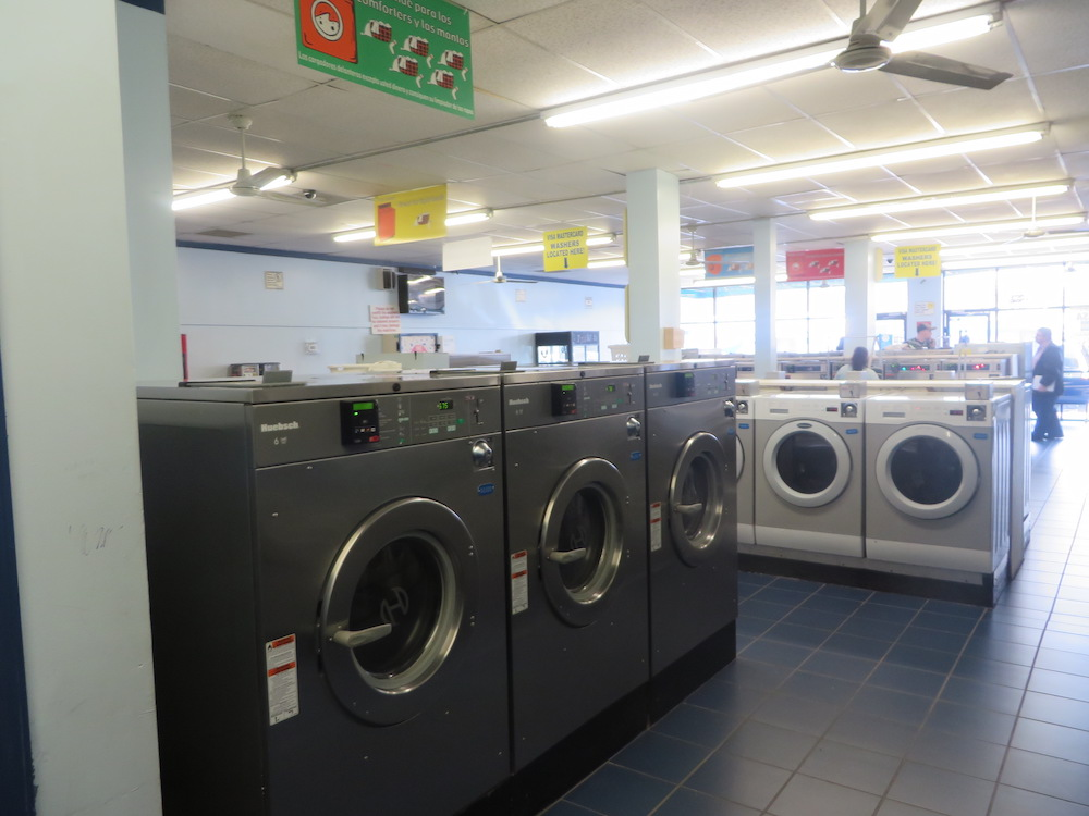 Large load, energy-efficient, front loading washers - credit cards accepted