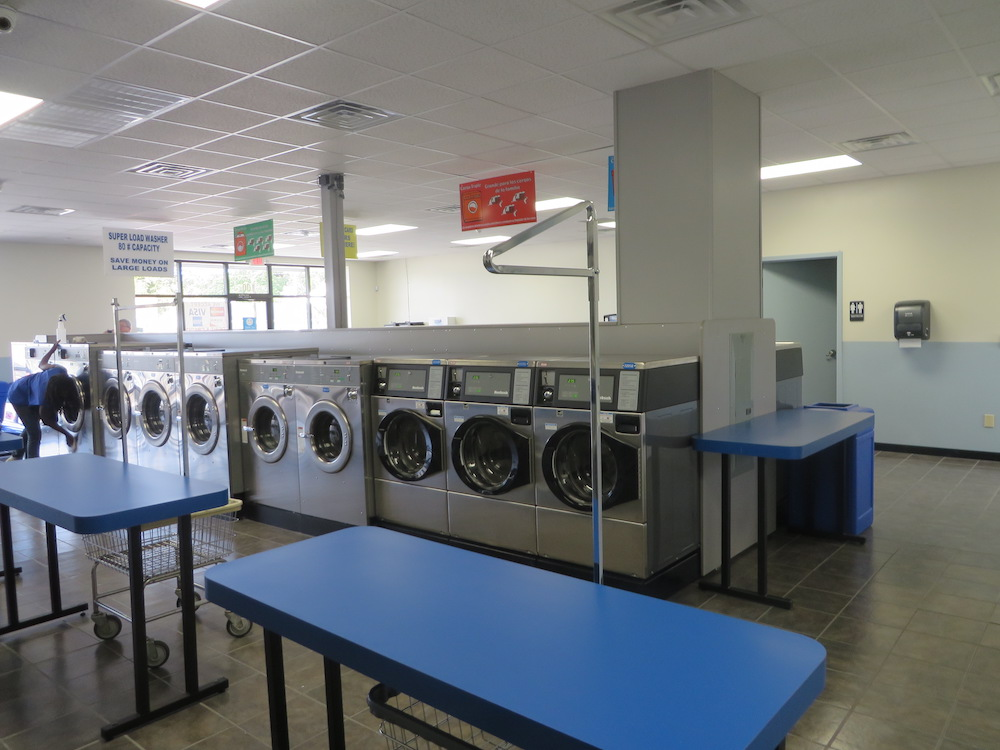 Plenty of washers, dryers and folding space